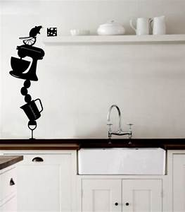kitchen wall stickers decoration idea modern wall With best brand of paint for kitchen cabinets with outdoor garden wall art