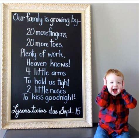 twin pregnancy announcements ideas  pinterest