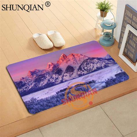 Winter Doormat by Winter Landscape Mountains Doormat Custom Your Mats Print