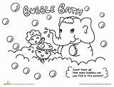 Coloring Hygiene Bubble Bath Pages Personal Worksheets Washing Hand Bubbles Printable Find Many Clean Activities Elephant Fun Drawing Worksheet Count sketch template