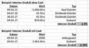 Internen Zinsfuß Berechnen : interner zinsfu bei der renditeberechnung rentablo finanzblog ~ Themetempest.com Abrechnung