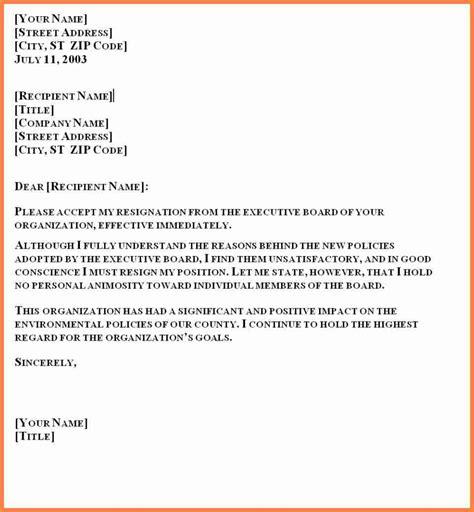 formal resignation letter sample  month notice