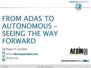 Strategy Analytics, 운전자보조시스템(ADAS)에서 자율주행차