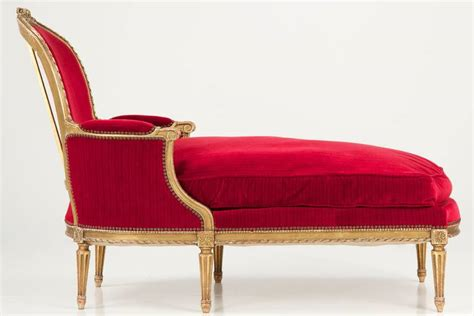 carcasse chaise louis xvi louis xvi carved gilt chaise lounge c 1900 at 1stdibs