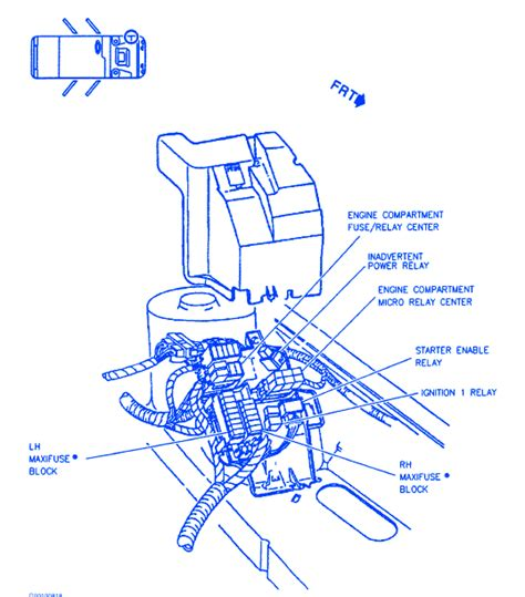 Cadillac Sts Engine Compartment Electrical Circuit