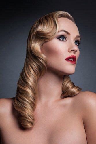 medium hair styles images classic retro curls h a i r retro curls 8451