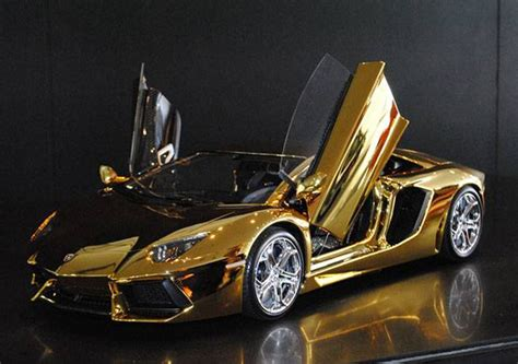 $7,500,000 Gold Lamborghini Aventador Lp 7004 By Robert