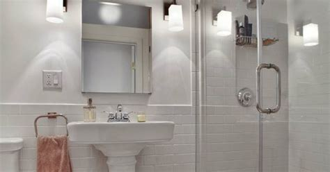 exposed brick and subway tile bathroom inspiration