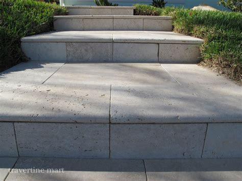 Ivory Travertine Pool Coping/ Stair Treads   Modern   Pool
