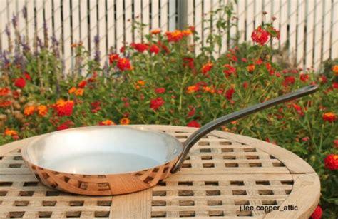 baumalu  copper frying pan skillet tin lined cast iron handle france  sale  ebay