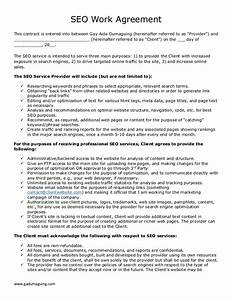 sample freelance seo work agreement With freelance employment contract template