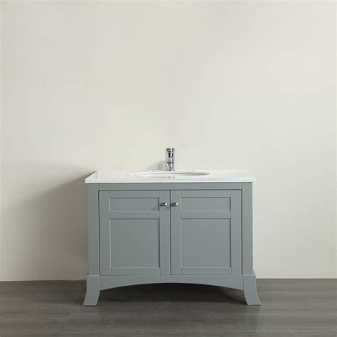 White Vanity With Gray Top by Eviva New York 30 Quot Grey Bathroom Vanity With White Marble