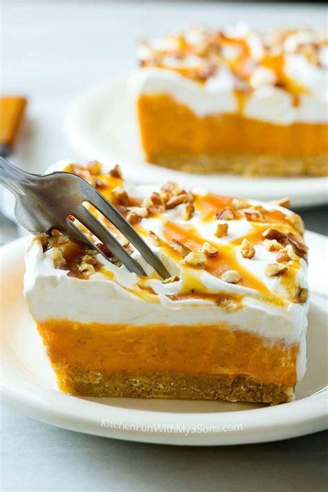 bake pumpkin lush dessert kitchen fun    sons