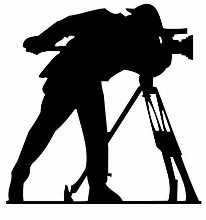 Camera Film Clipart Movie Production Cameraman Silhouette