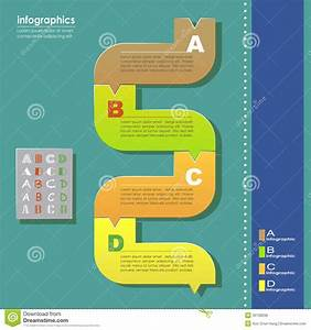 Vector Abstract Flow Chart Infographics Stock Vector