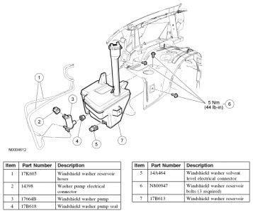 auto manual repair 2006 ford taurus windshield wipe control pin by scott on car repair windshield washer ford explorer windshield washer fluid
