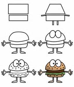 How to Draw Cartoon Food