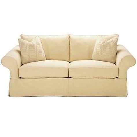 rowe furniture carmel slipcovered sofa home furniture