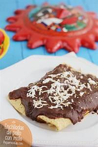 Enchiladas De Mole Con Pollo