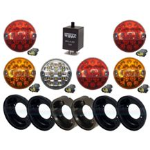 land rover defender clear 95mm rear nas 6 led l light upgrade kit rdx wipac
