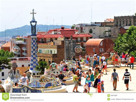 Park Guell In Barcelona, Spain Editorial Photography ...
