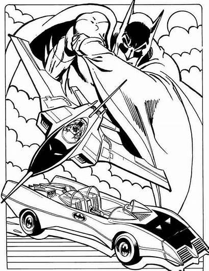Coloring Batmobile Batman Printable Sheets Superhero Hero