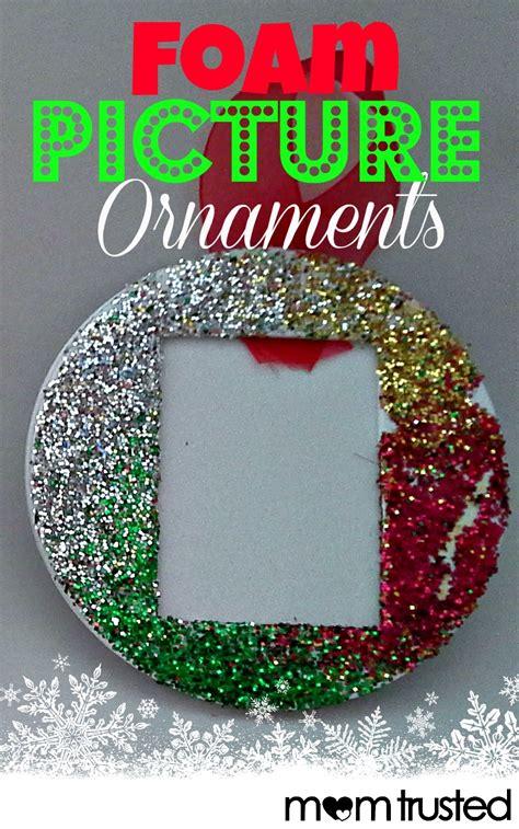 easy foam picture ornaments  preschoolers preschool