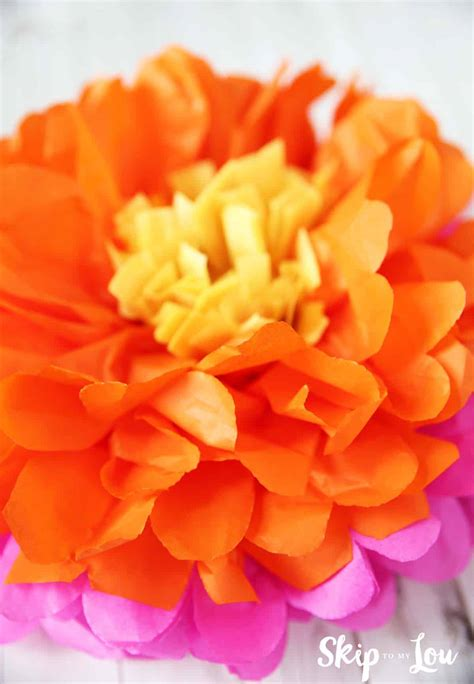 tissue paper flowers skip   lou