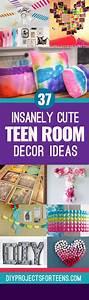 37 Insanely Cute Teen Bedroom Ideas for DIY Decor | Girls ...