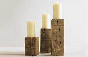 Rustic Timber Candleholders - The Green Head