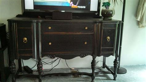 Refurbished antique buffet used as a tv stand! Did it