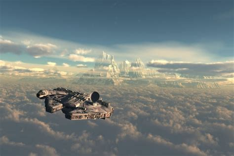 star wars space ship sky clouds day