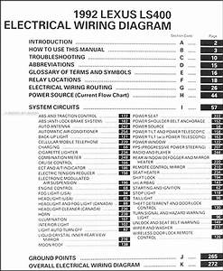 1992 Lexus Ls 400 Wiring Diagram Manual Original