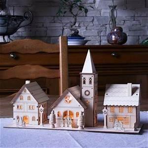 Maison De Noel Miniature : deco noel maison en carton ~ Nature-et-papiers.com Idées de Décoration
