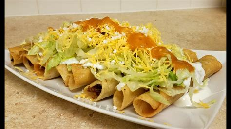 rolled tacos how to make rolled tacos taquitos flautas recipe youtube