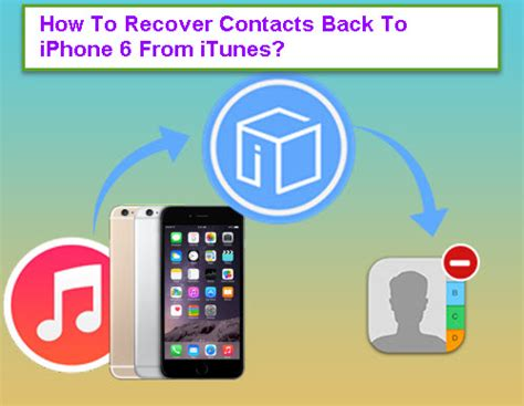 how to recover contacts on iphone how to recover contacts back to iphone 6 from itunes
