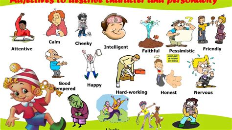 adjectives  describe character  personality youtube