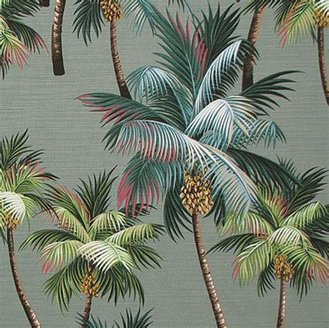 palm tree upholstery fabric hawaii by hawaiianfabricnbyond