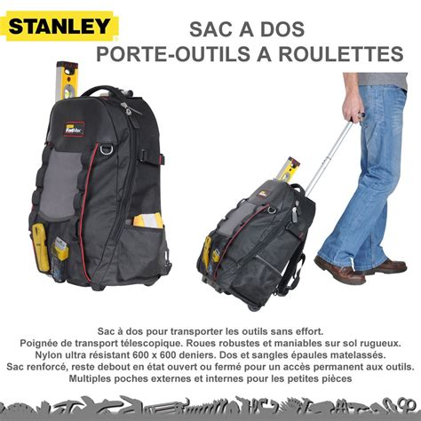sac 224 dos porte outils 224 roulettes 1 79 215 stanley