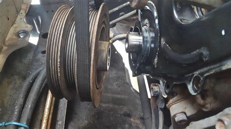 crankshaft harmonic balancer pulley removal