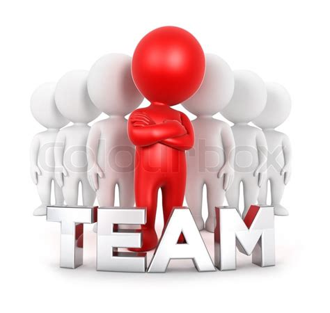 white people team   leader isolated white