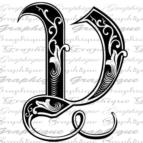 letter initial  monogram  engraving style type text