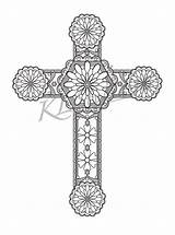 Coloring Cross Adults Pages Adult Designs Relax Instant Etsy Printable sketch template