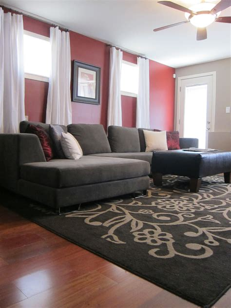 Small Living Room Grey Walls Red Couch Best Site Wiring