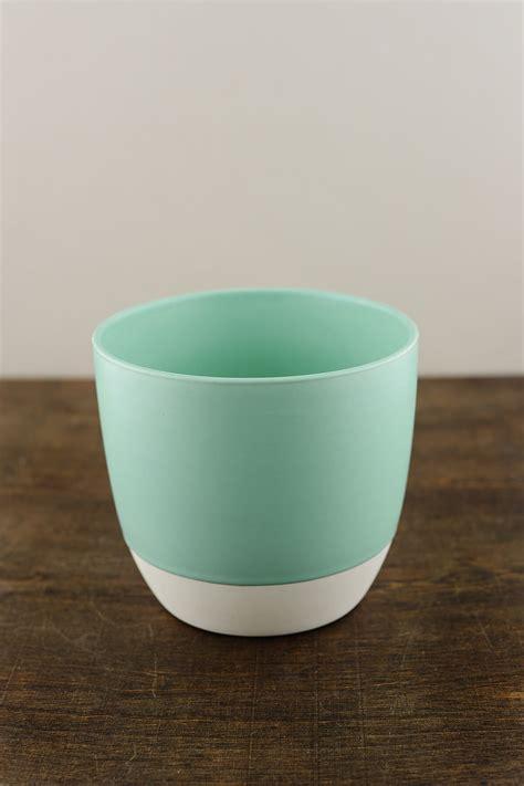 bumble ceramic flower pots    aqua