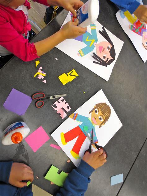zilker elementary art class st grade  portrait collages