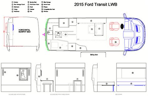 Open Kitchen Layout Ideas - how to design your conversion van layout