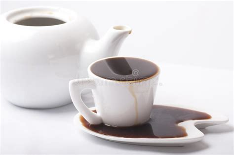 Too much coffee stock image. Image of drinks, yellow ...