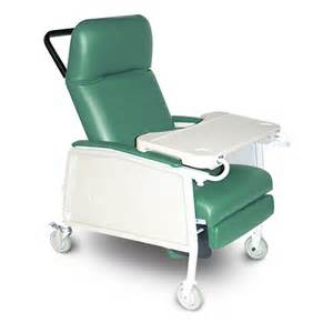 500 gc 3pj chair geri recl 3 position w tray 250lb cap jade ea