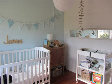 Decorating Ideas For Baby Boy Bedroom by Thom Haus Handmade Soft Colours For A Baby Boy S Bedroom